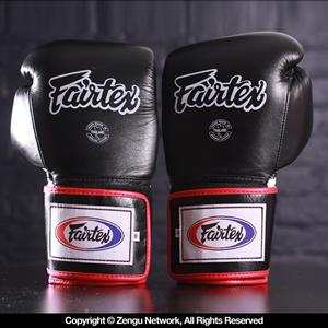 Fairtex BGV1 Muay Thai Gloves - Black/White/Red
